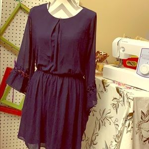 Large IZ Byer dress navy blue